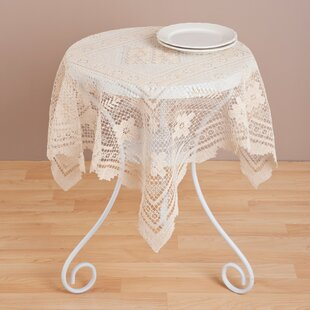 Ordinaire Round Lace Table Toppers | Wayfair