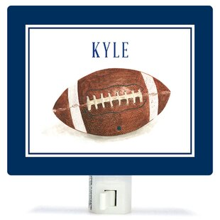 Oopsy Daisy Personalized Sports and Games Football Canvas Night Light