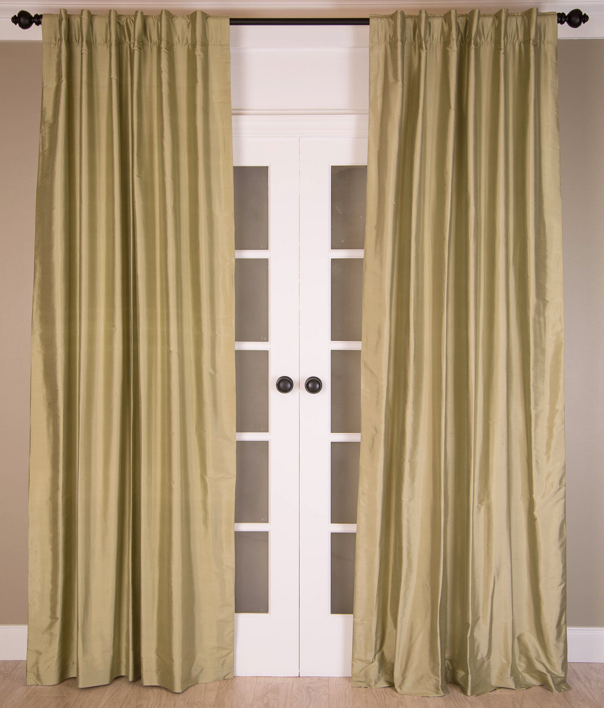 India S Heritage Solid Silk Room Darkening Rod Pocket Panel Pair Wayfair