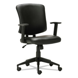 Symple Stuff Arely Ergonomic Genuine Leather Office Chair