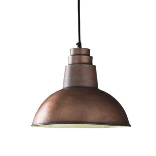 Williston Forge Hunstant 1-Light Dome Pendant