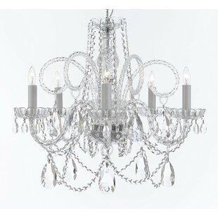 Rosdorf Park Crawley 5-Light Candle Style Chandelier