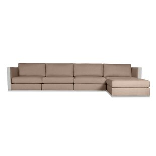 Steffi Plush Deep Modular Sectional with Ottoman