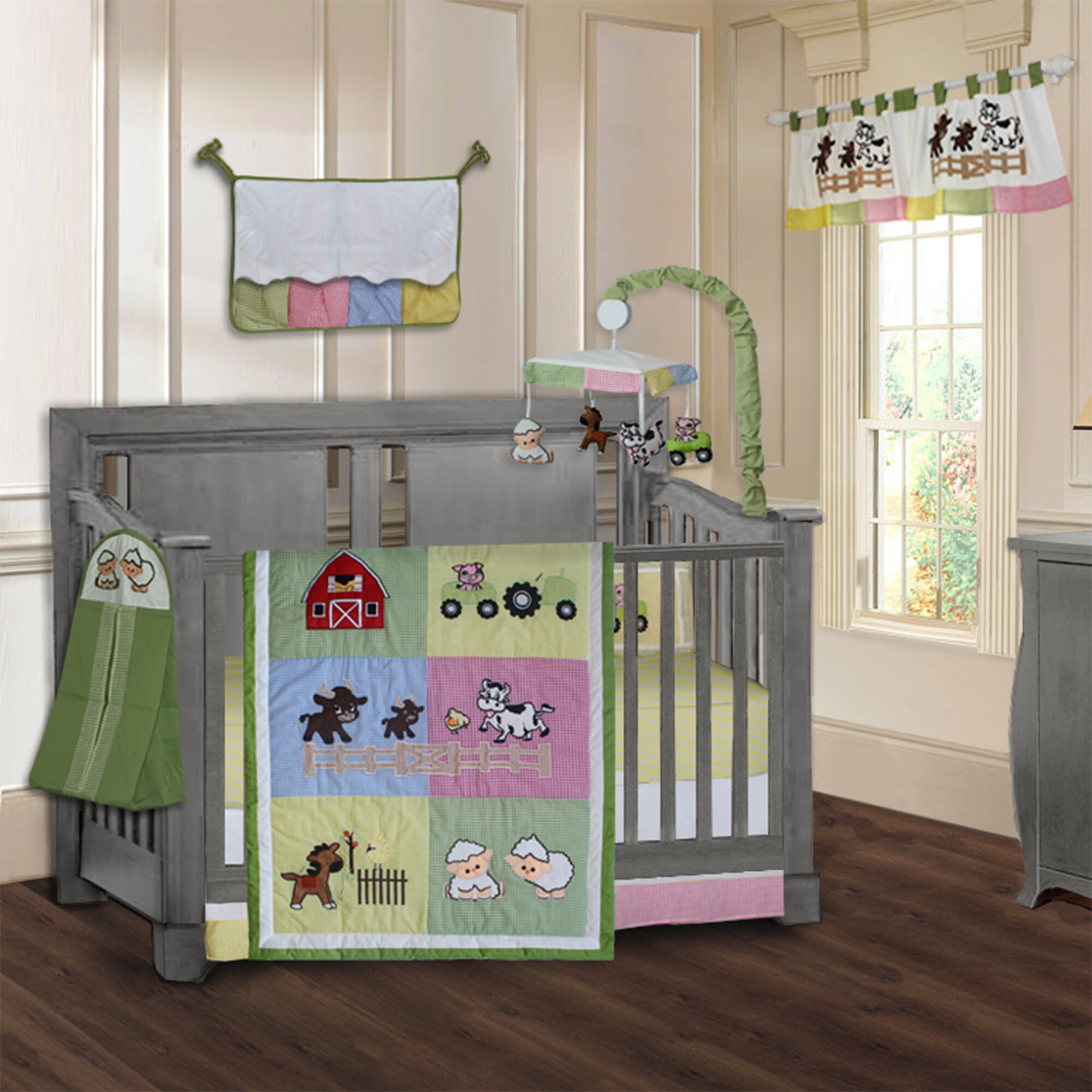 Harriet Bee Simpkins Barnyard Farm Baby 9 Piece Crib Bedding Set Reviews Wayfair