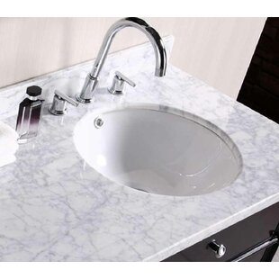 Bargain Ceramic Circular Undermount Bathroom Sink with Overflow By American Imaginations