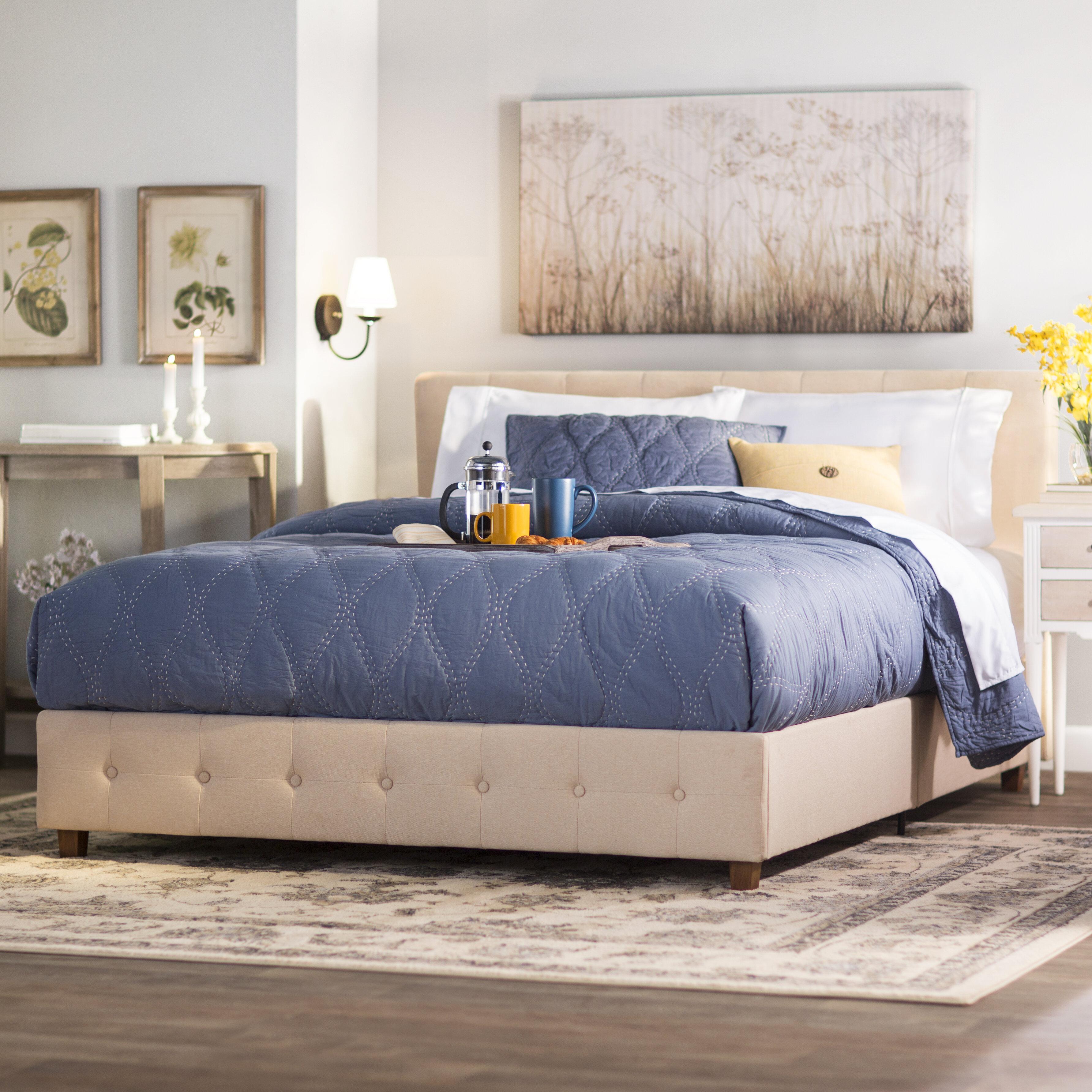 Andover Mills Amherst Upholstered Platform Bed Reviews Wayfair