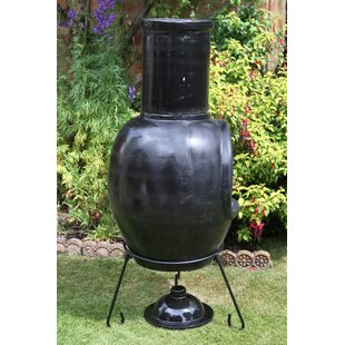 Clay Charcoal/Wood Burning Chiminea By Gardeco