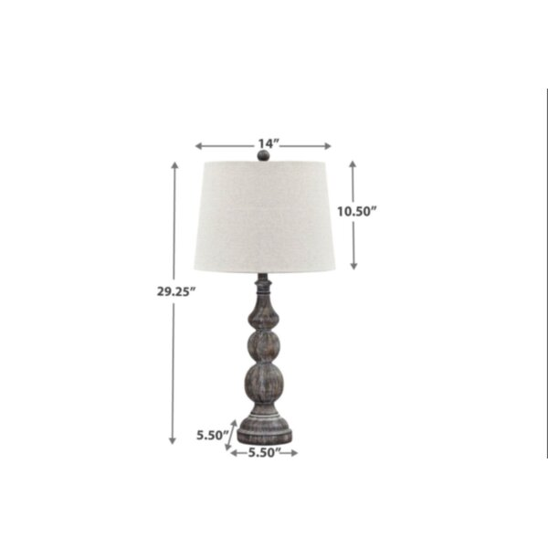 Kelly Clarkson Home 29 25 Antique Black Table Lamp Set Reviews Wayfair Ca