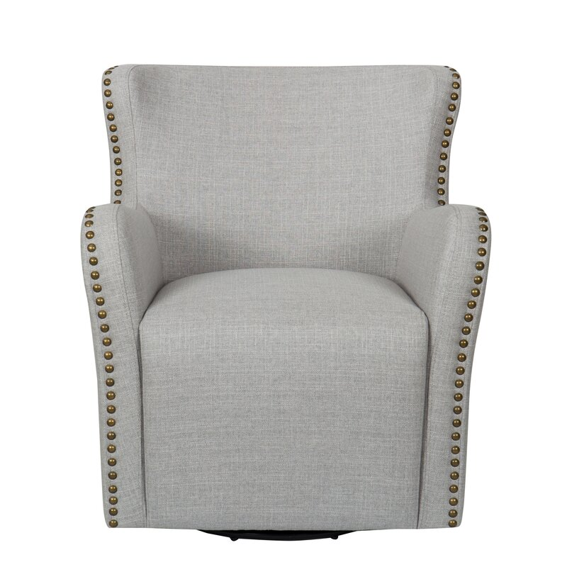 Daxton Upholstered Swivel Armchair