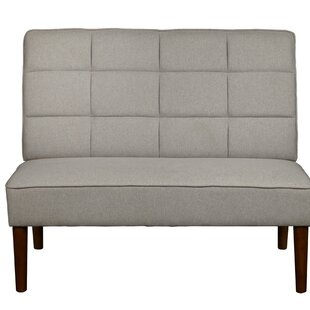 Merveilleux Andrade Modern Grid Upholstered Settee