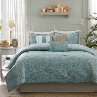 Beachcrest Home Annaley 7 Piece Reversible Comforter Set