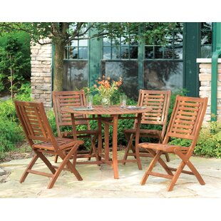 Beachcrest Home Roseland Brazilian Eucalyptus 5 Piece Dining Set