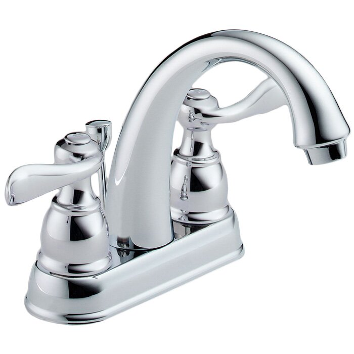 Delta Windemere Centerset Bathroom Faucet with Drain Assembly and ...