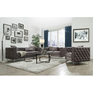 Everly Quinn Garza Configurable Living Room Set