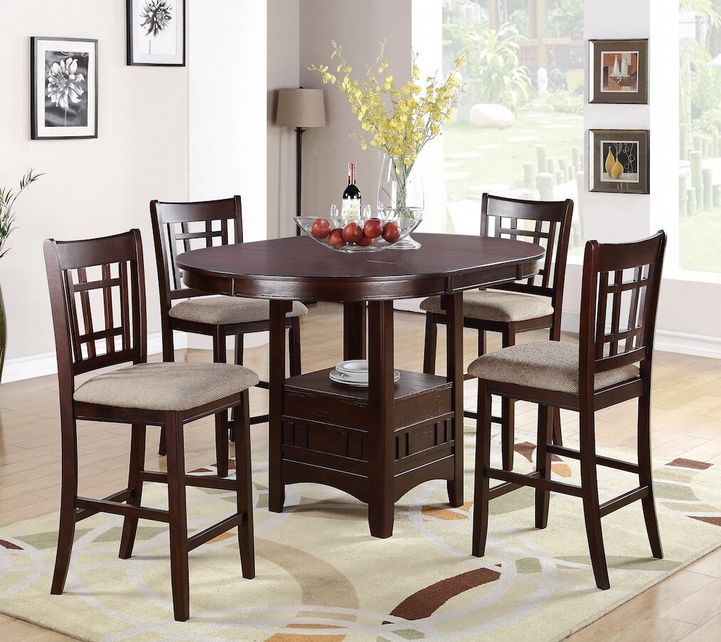 Winston Porter Paislee 5 Piece Counter Height Dining Set Reviews Wayfair
