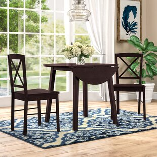 Wiley 3 Piece Drop Leaf Dining Set