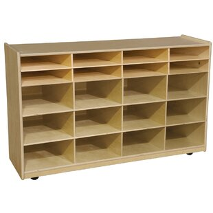 Budget 20 Compartment Cubby with Casters ByWood Designs
