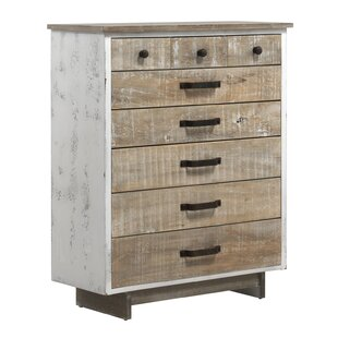 Cael Wooden Rustic Front 8 Drawer Chest Of Drawers By Williston Forge
