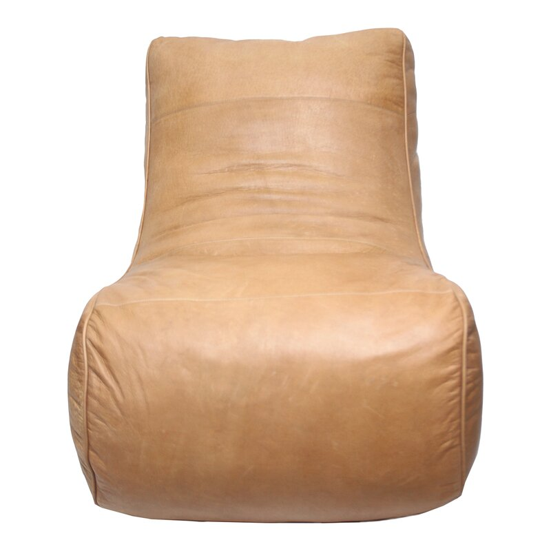17 Stories  Cara Leather Slipper Chair
