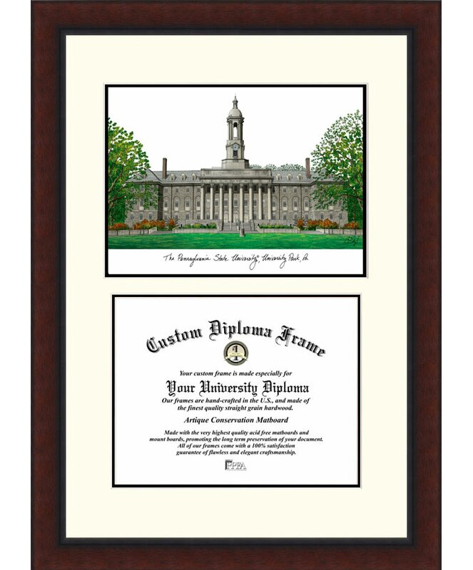 Campus Images NCAA Penn State University Legacy Scholar Diploma ...
