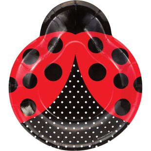 Ladybug Fancy Shaped Plate (Set of 24)