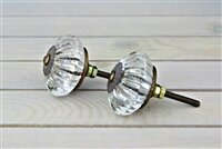 Marigold Glass Crystal Knob