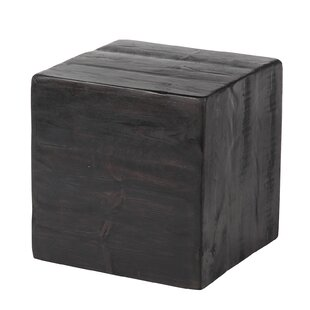 Paschke Rustic Cube End Table by Loon Peak