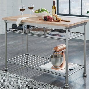 Hamann Prep Table with Butcher Block Top
