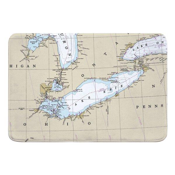 Breakwater Bay Nautical Chart Lake Erie Rectangle Memory ...