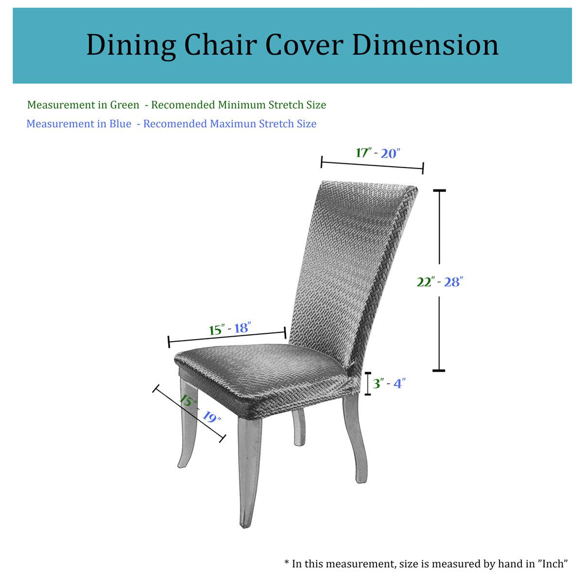 Charlton Home Basket Weave Dining Chair Cover | Wayfair