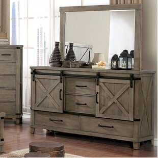 Gracie Oaks Ashly 4 Drawer Combo Dresser with Mirror