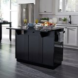 Emblyn Kitchen Island with Solid Wood Top by Latitude Run