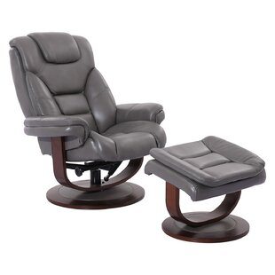 Bloomfield Manual Swivel Recliner with Ottoman