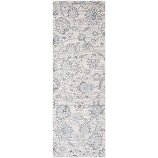 Compare & Buy Heger Distressed Floral Silver Cream Area Rug By Williston Forge