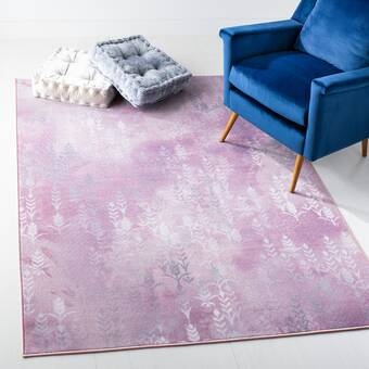 Brayden Studio Aubuchon Abstract Gray Purple Area Rug Reviews Wayfair