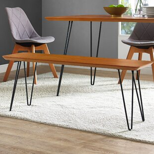 Lacluta Hairpin Bench by Mercury Row