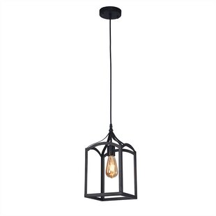 Gracie Oaks Woo 1-Light Square Pendant