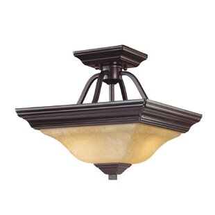Weybridge 2-Light Semi-Flush Mount by Fleur De Lis Living