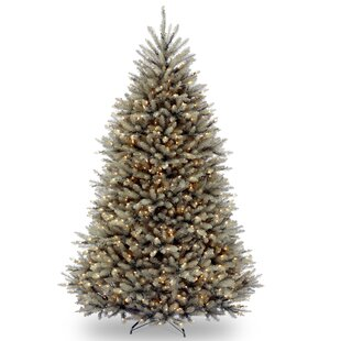 green fir 75 hinged green artificial christmas tree with 750 clear lights - Pre Lit And Decorated Christmas Trees