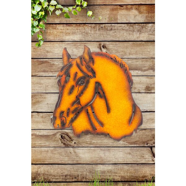 Rust Horse Laser Cut Metal Wall Decor