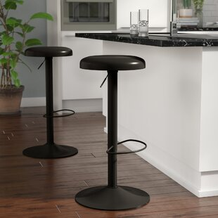 Purchase Woodfin Iron Adjustable Height Bar Stool by Ebern Designs Reviews (2019) & Buyer's Guide