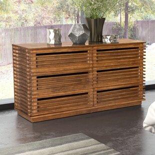 Brayden Studio Glidden 6 Drawer Double Dresser