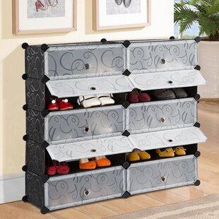 Rebrilliant 10 Pair Shoe Storage Cabinet