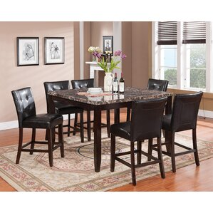 Valentino 7 Piece Pub Table Set by Brassex