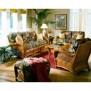Spice Islands Wicker Kingston Reef 6 Piece Living Room Set