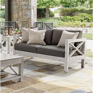 Barden Patio Loveseat with Sunbrella Cushions by Laurel Foundry Modern Farmhouse