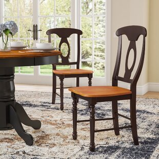 Laurel Foundry Modern Farmhouse Shelburne Traditional Solid Wood Dining Chair (Set of 2)