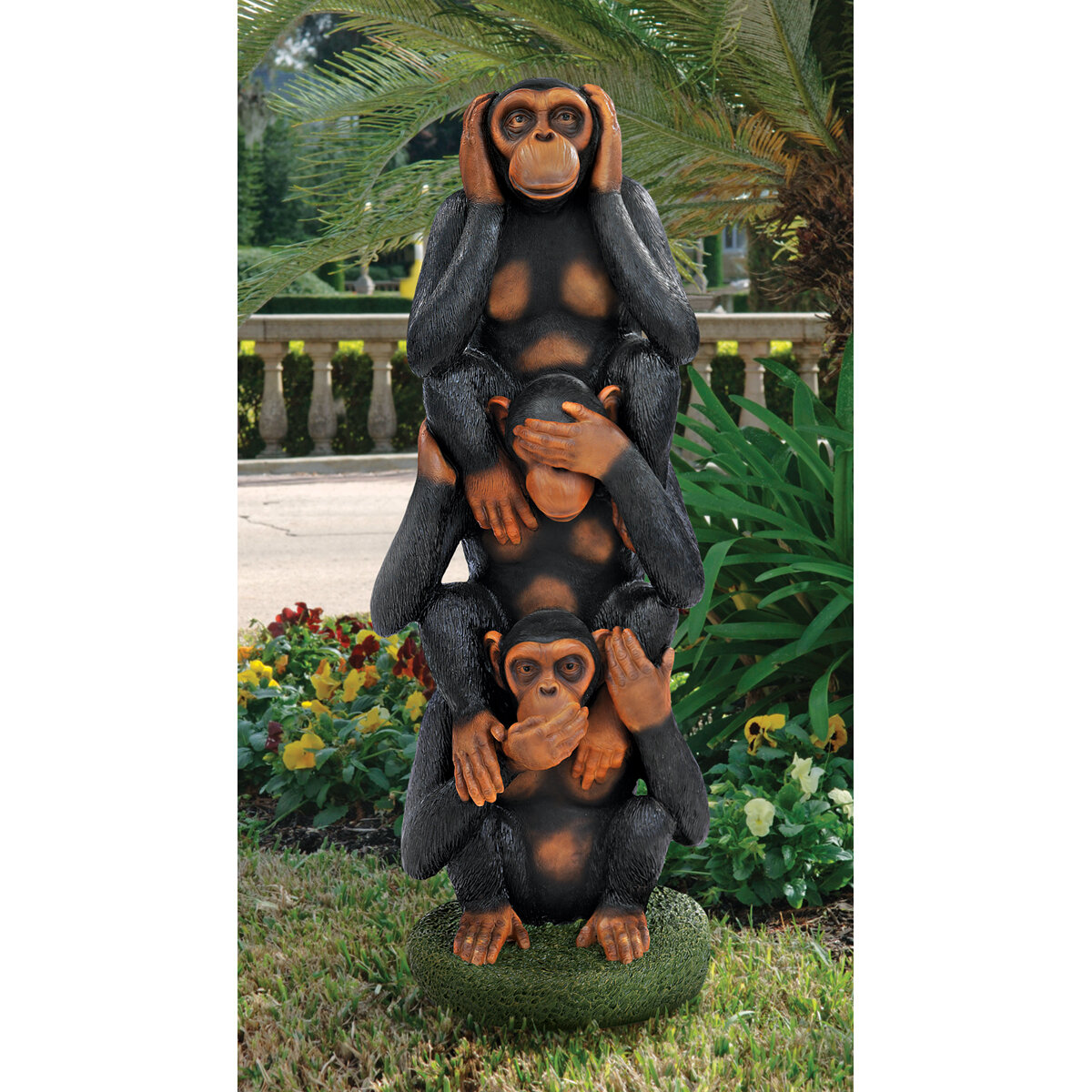 Design Toscano Hear No Evil See Speak Monkeys Grand Scale Statue Wayfair