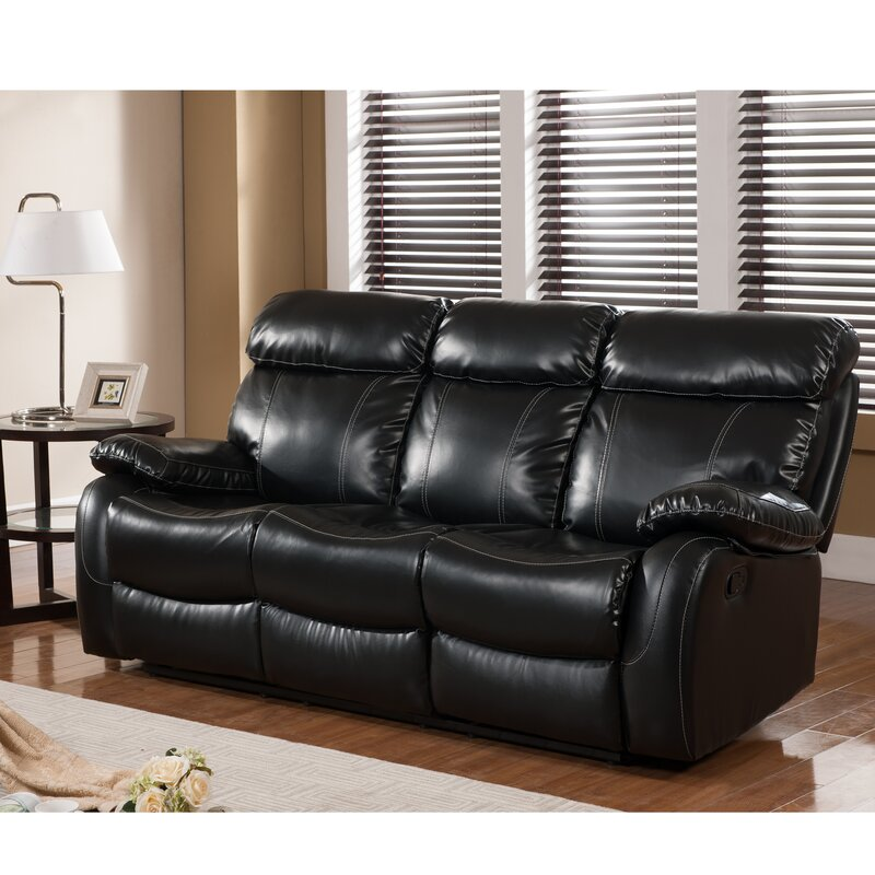 Reclining Sofas LeatherBarcalounger Premier Ll Leather Reclining Sofa  Reviews Wayfair