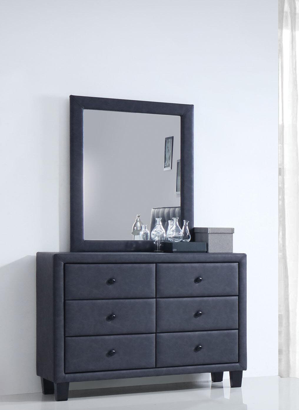 Wrought Studio Bodnar 6 Drawer Double Dresser With Mirror Reviews Wayfair